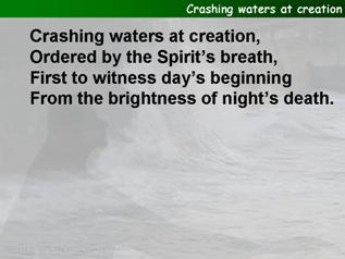 Crashing waters at creation