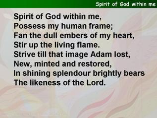 Spirit of God within me