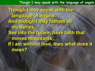 Though I may speak with the language of angels