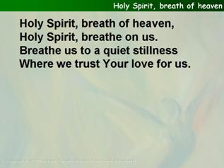 Holy Spirit, Breath of heaven