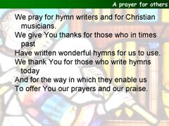 A prayer for Church Music Sunday