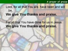 A prayer of praise