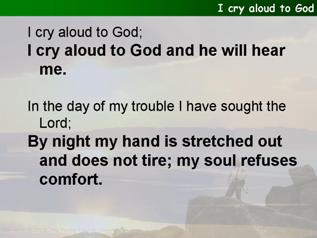 I cry aloud to God (Psalm 77:1-2,11-20)
