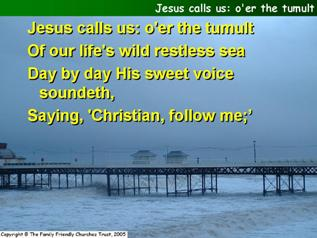 Jesus calls us; O'er the tumult