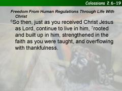 Colossians 2.6-15[16-19]