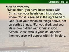 Colossians 3.1-11