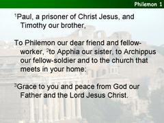 Philemon 1-21