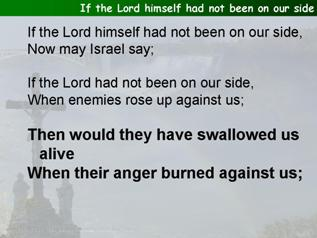 If the Lord himself had not been on our side (Psalm 124)