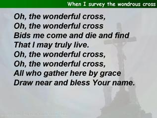 When I survey the wondrous cross (Tomlin & Walt)
