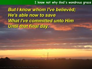 I know not why God's wondrous grace (Townend)