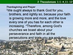 2 Thessalonians 1:1-4,11-12