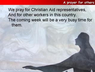 A prayer for Christian Aid