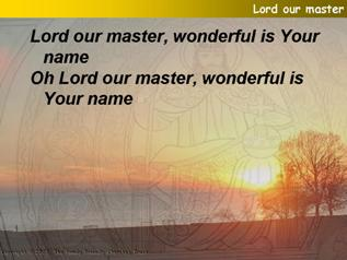 Lord our Master