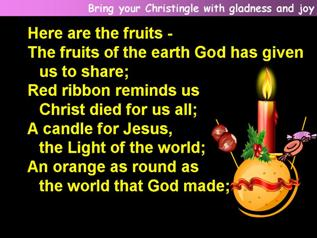 Bring your Christingle with gladness and joy