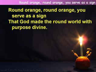 Round orange, round orange, you serve as a sign