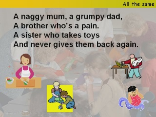 All the same (A naggy mum)